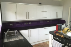 Coloured Glass Splash Back